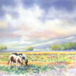 Grazing in a Spring Meadow