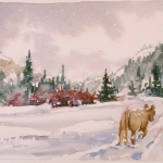 Winter, Watercolor Sketch