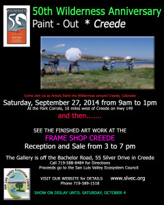 50th Wilderness Paint Out FLyer copy