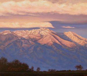 Dusting of Snow on Mount Blanca, 2010