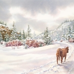 Saunter a Snowy Path