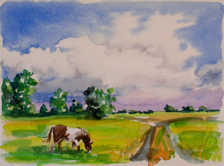 Summer, Watercolor Sketch