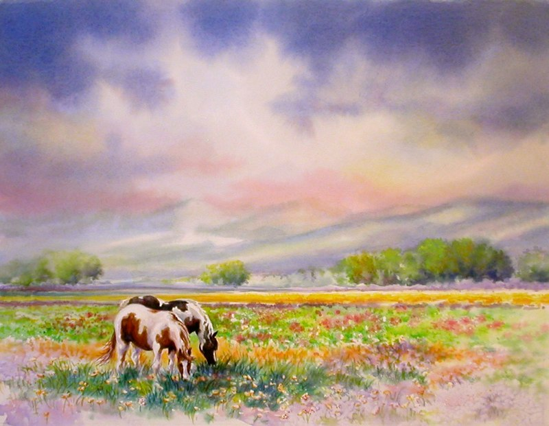 Grazing a Spring Meadow
