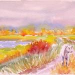 Autumn, Watercolor Sketch