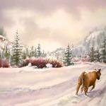 Saunter, Watercolor Study