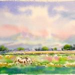 Spring, Watercolor Sketch