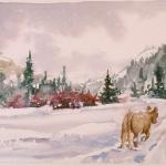 Winter, Watercolor Sketch